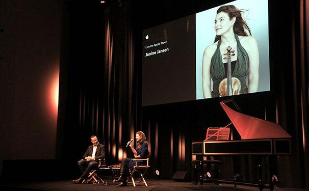 Janine Jansen, Live im Apple Store, Kurfürstendamm