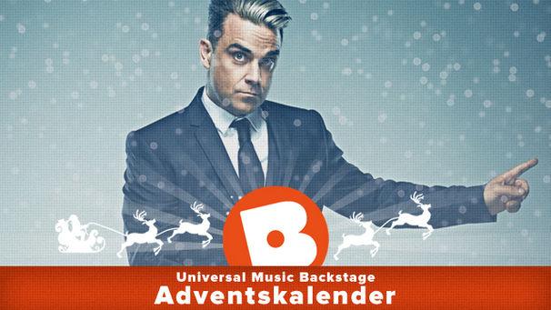 Robbie Williams, Robbie Williams schenkt euch im Adventskalender von Universal Music Backstage ein bisschen Liebe
