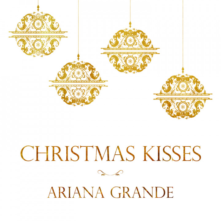Christmas kisses Ariana Grande