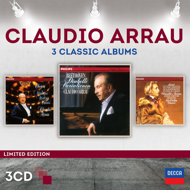 Claudio Arrau - 3 Classic Albums (Ltd. Edt.): Arrau,Claudio/Davis,Sir Colin/LSO