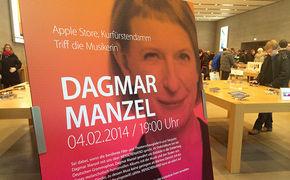 Dagmar Manzel, Dagmar Manzel zu Gast im Apple Store, Kurfüstendamm