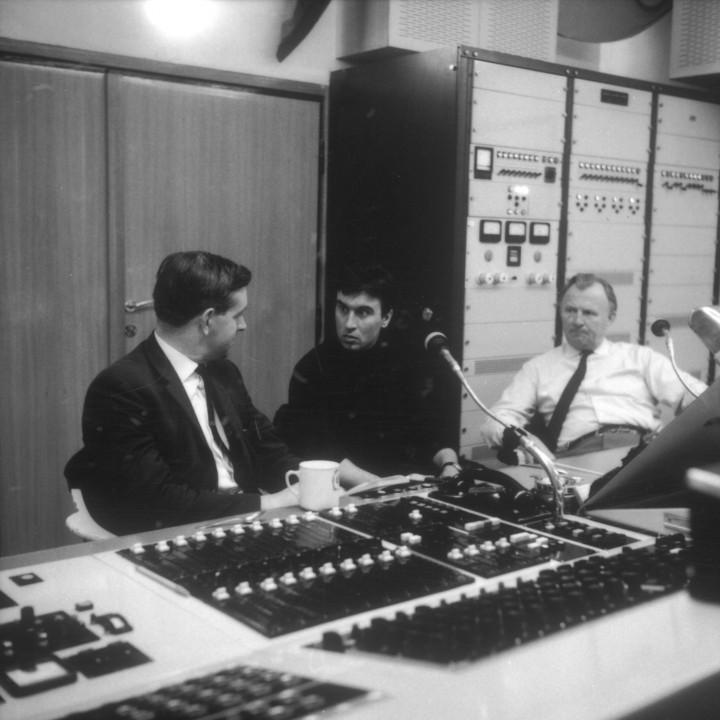 Von Links: Produzent Ray Minshull, Claudio Abbado und Konzertmeister