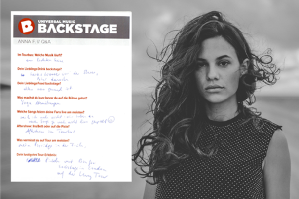 Anna F., Anna F. backstage: Hier seht ihr das Q&A