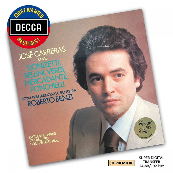 Jose Carreras Sings Arias (DMWR): Carreras,Jose