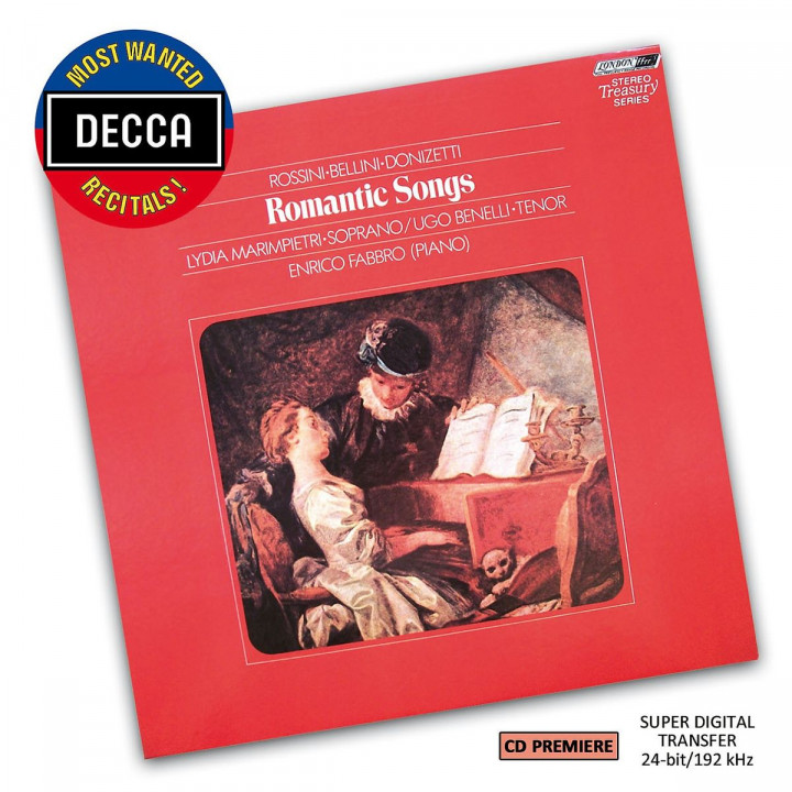 Romantic Songs by Rossini/Bellini/Donizetti (DMWR): Marimpieti,L./Benelli,U./Sciutti,G.