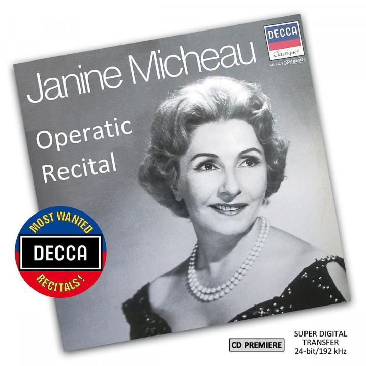 Janine Micheau: Operatic Recital (DMWR): Micheau,Janine