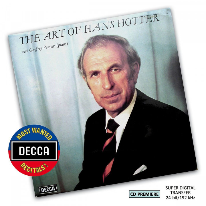 The Art of Hans Hotter (DMWR): Hotter,Hans
