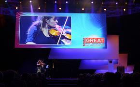 Nicola Benedetti, Britains Superstar spielte bei der CeBIT Eröffnung 2014