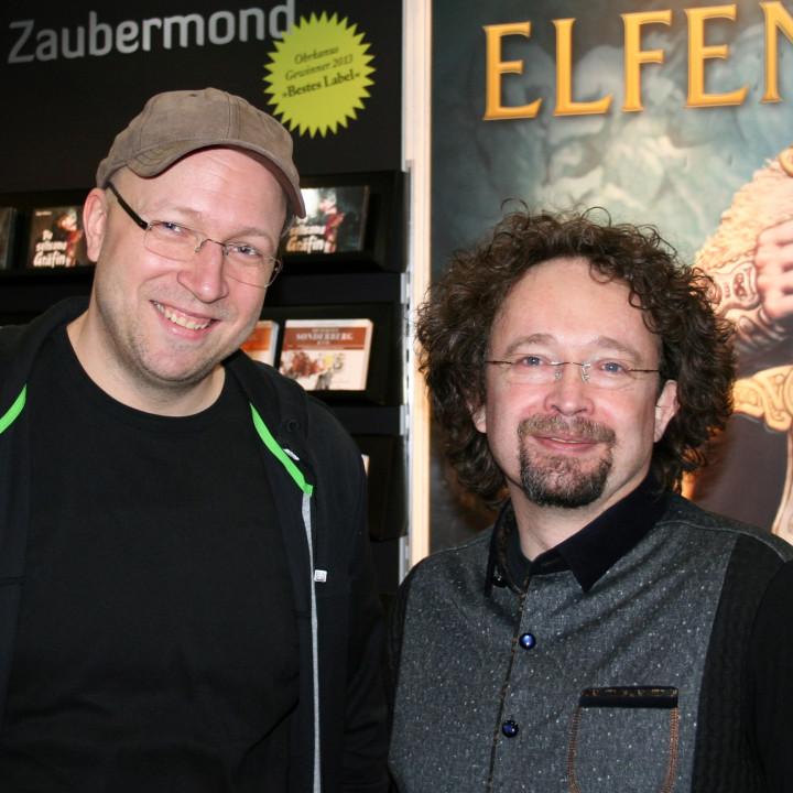 Dennis Ehrhardt und Bernhard Hennen Leipziger Buchmesse 2014