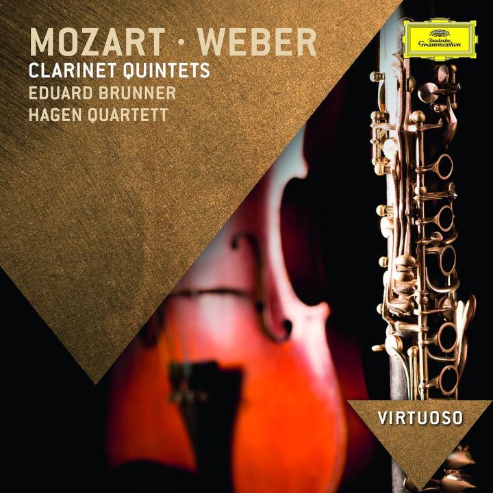 *NEU:Mozart/Weber: Klarinettenquintette: Brunner,Eduard/Hagen Quartett