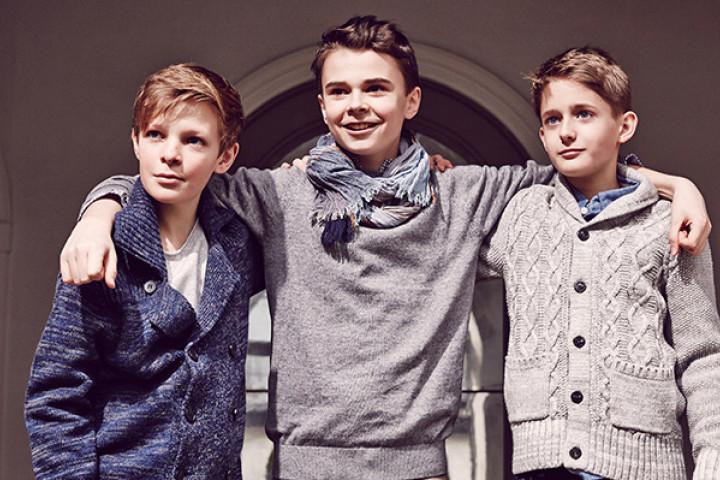 Die Chorjungen Nico, Jan und Georg
