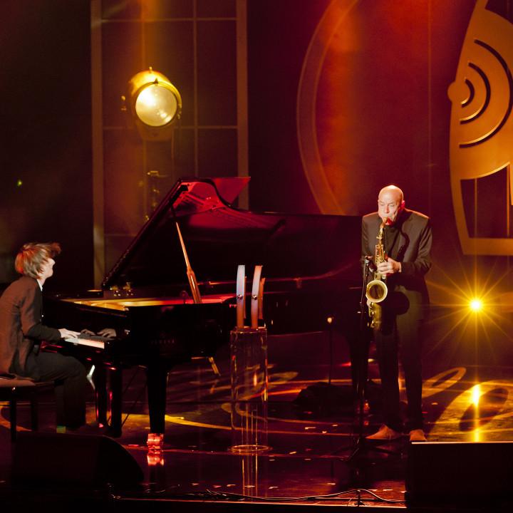 Michael Wollny und Heinz Sauer beim ECHO Jazz 2014 // Credit Monique Wuestenhagen/BVMI