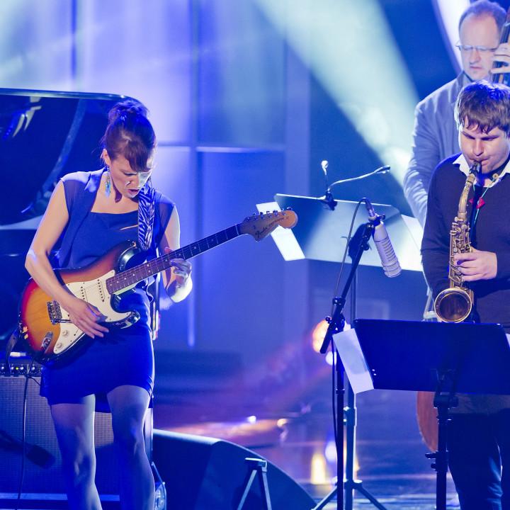Monika Roscher und Wanja Slavin beim ECHO Jazz 2014 // Credit Monique Wuestenhagen/BVMI