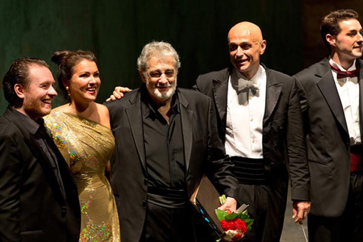Francesco Meli, Anna Netrebko, Plácido Domingo, Paolo Carigniani, Johannes Dunz