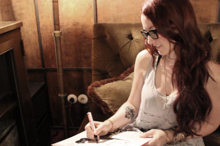 Ingrid Michaelson Universal Backstage Signing