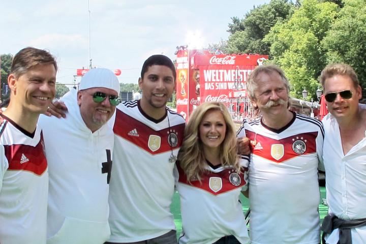UNIVERSAL MUSIC Stars feiern Rückkehr der Weltmeister