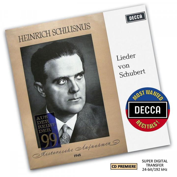 A Schubert Recital By Heinrich Schlusnus