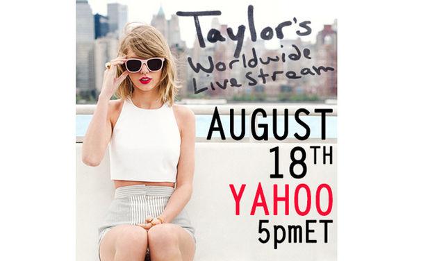 Taylor Swift, Taylor Swift berichtet euch im Live-Stream: Seht die US-Sängerin am 18. August 2014 live ab 23 Uhr