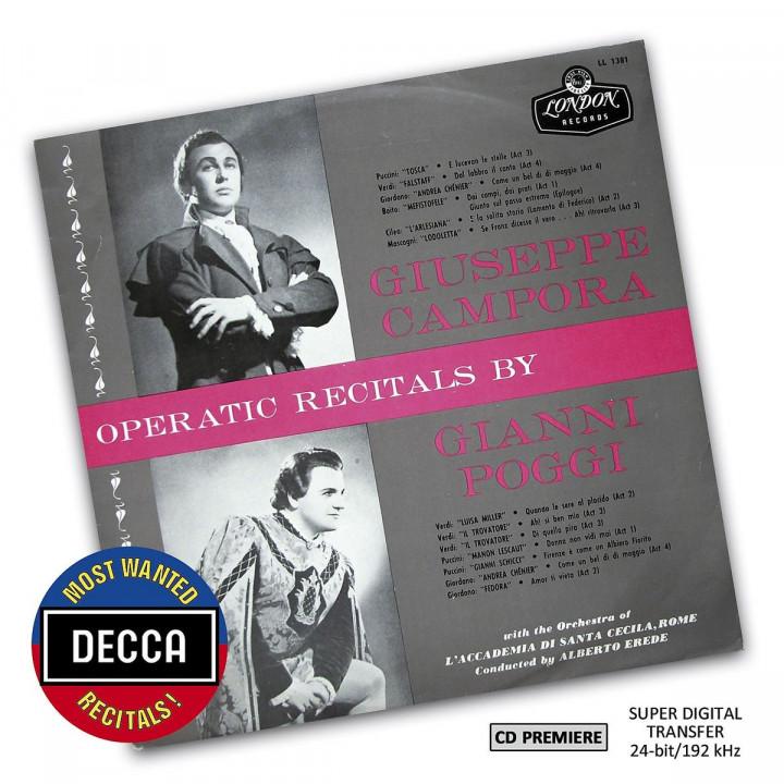 Operatic Recitals By Giuseppe Campora & Gianni Poggi