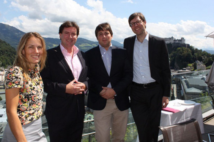 V.l.n.r: Ute Fesquet, Mark Wilkinson, Ernst Buchrucker, Albrecht Klutmann