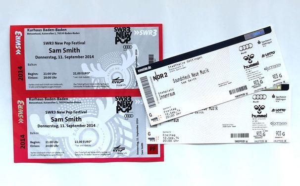 Sam Smith, Gewinnt Tickets: Sam Smith beim NDR 2 Soundcheck und SWR3 New Pop Festival