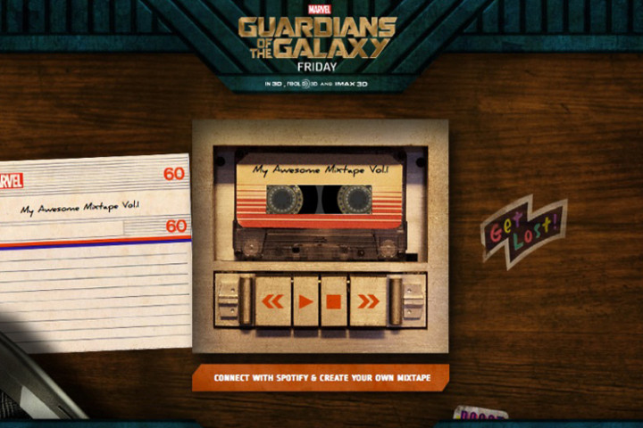 Guardians Of The Galaxy - Mixtape Generator