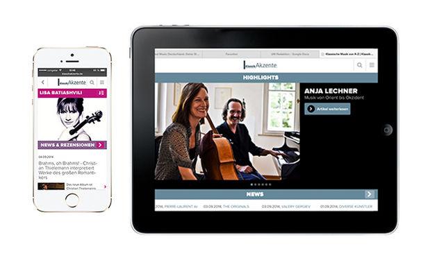 KlassikAkzente optimiert für Smartphones und Tablets