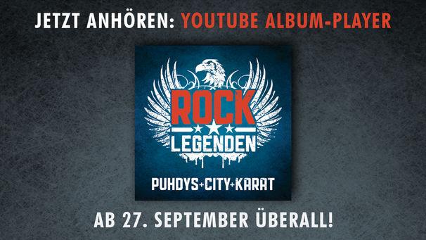 Rock Legenden, Jetzt in das gemeinsame Album Rock Legenden von Puhdys, City und Karat reinhören!