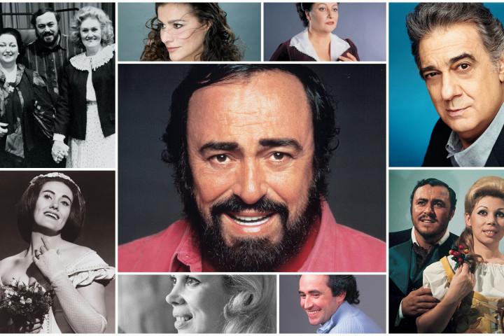 Luciano Pavarotti mit Duettpartner