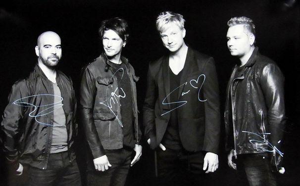 Sunrise Avenue, Gewinnt ein handsigniertes Sunrise Avenue Bandfoto im Großformat