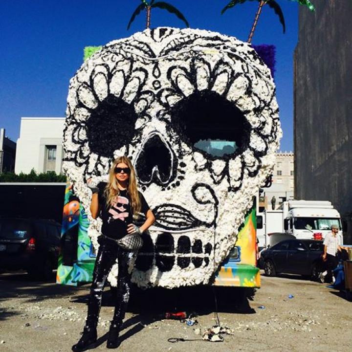 "Fergie – Bilder Videoshooting ""L.A.Love (la la) – 1"