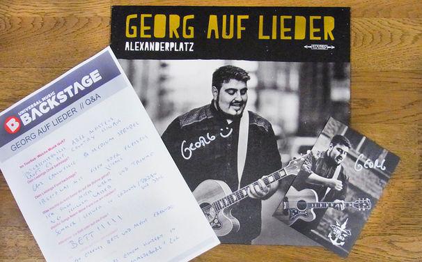 Georg auf Lieder, Georg auf Lieder Paket: Gewinnt das Original Q&A, eine Alexanderplatz Vinyl und Autogrammkarte