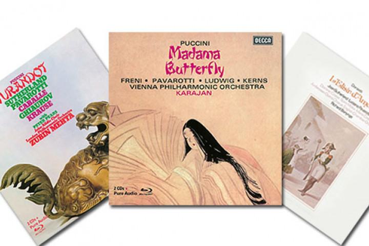 Die Opern Turandot, Madama Butterfly und  L'elisir d'amore mit Luciano Pavarotti