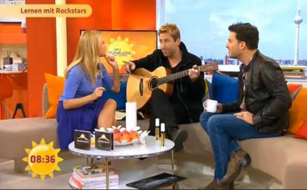 Nickelback, Hier nochmal ansehen: Nickelback zu Gast beim Sat.1 Frühstücksfernsehen
