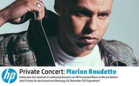 Marlon Roudette, Gewinnt Gästelistenplätze für das Marlon Roudette Privatkonzert von HP Connected Music