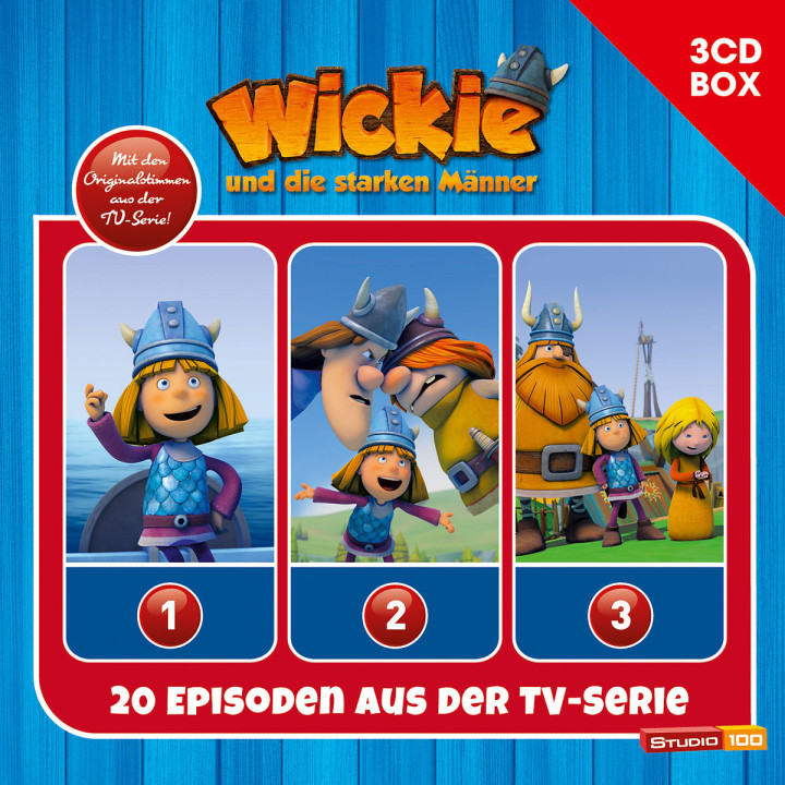 3-CD Hörspielbox zur neuen TV-Serie (CGI) Vol. 1