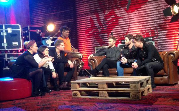 Take That, 12. Dezember 2014: Take That singen mit den The Voice Of Germany Finalisten die Single These Days