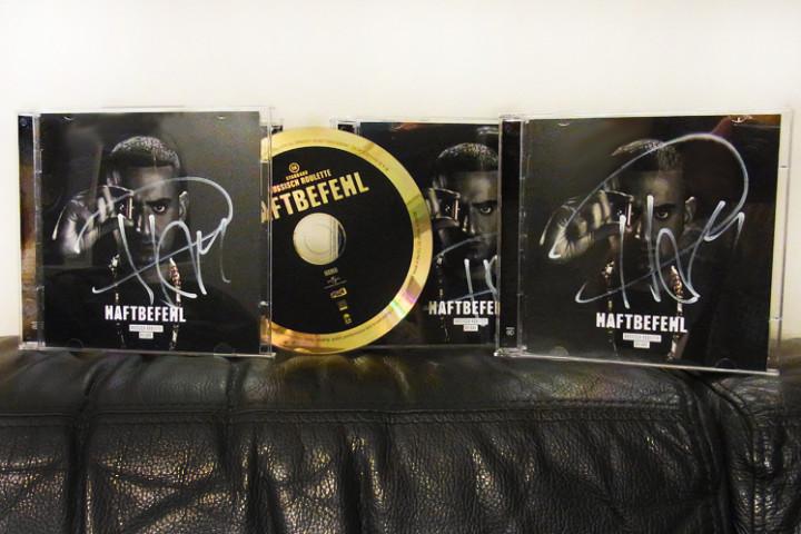 Haftbefehl-signierte CD-Russisch Roulette-Gewinnspiel-2014