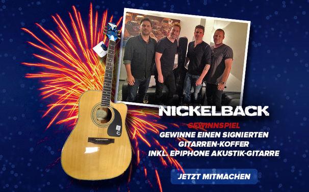 Nickelback, Mit Nickelback ins neue Jahr: Sichert euch euren signierten Gitarrenkoffer mit Gitarre