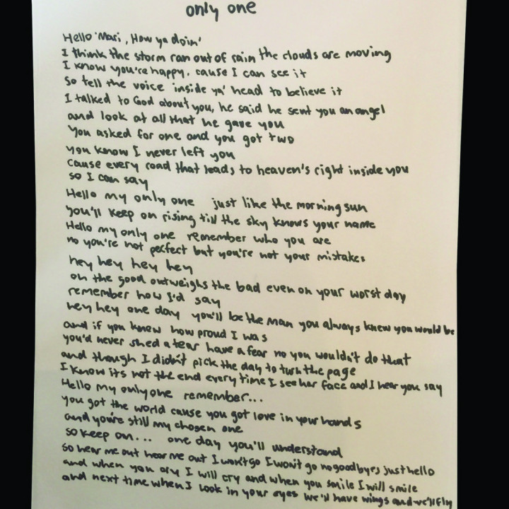 Kanye West – Pressebild 2015 – Lyrics 'Only One' Part 1