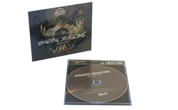 Imagine Dragons, Mit Imagine Dragons und Hard Rock Cafe gewinnen: Ein Essen für Zwei, ein Fan-Shirt und die signierte Single I Bet My Life