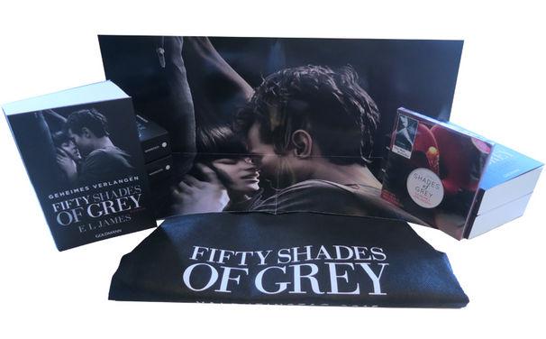Fifty Shades Of Grey, Eine Geschichte die euch fesselt: Gewinnt jetzt euer Fifty Shades Of Grey Fanpaket zum Filmstart mit Buch, Poster und Beutel