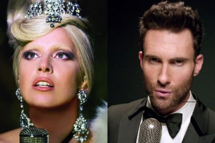 Lady Gaga Adam Levine Oscars 2015