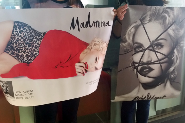 Madonna Gewinnspiel Poster