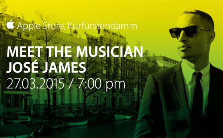 José James live im Berliner Apple Store