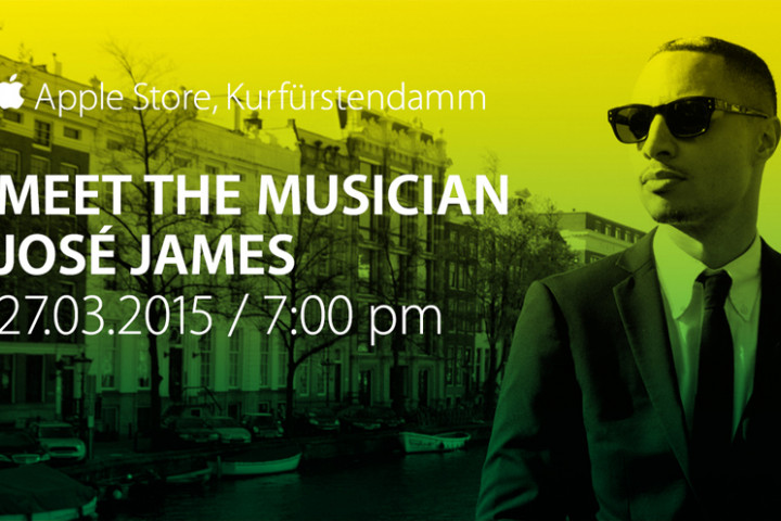 José James live im Berliner Apple Store