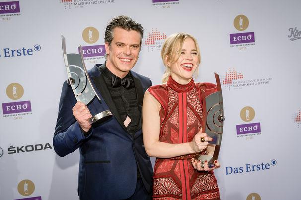 ECHO, ECHO 2015: The Common Linnets in der Kategorie Newcomer International ausgezeichnet und mit Stefanie Heinzmann auf der Bühne