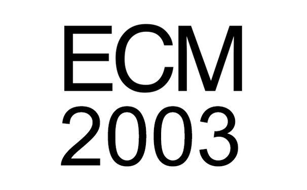 ECM Sounds, ECM 2003: Mit dem Art Ensemble of Chicago, Dave Holland, Keller Quartett uvm.