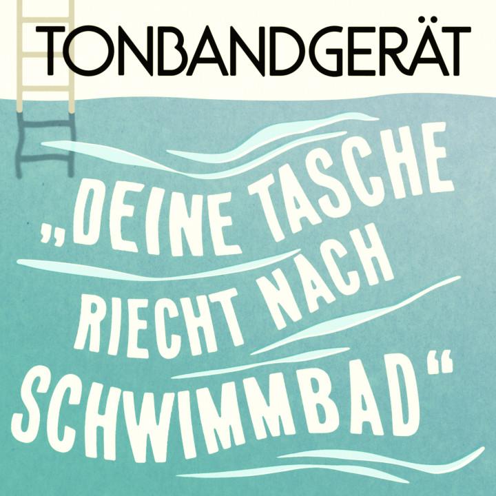 """Tonbandgerät Single Cover """"Deine Tasche riecht nach Schwimmbad"""""""