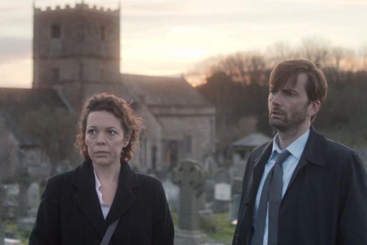 """Broadchurch"" mit Alec Hardy (David Tennant) und Ellie Miller (Olivia Colman)"